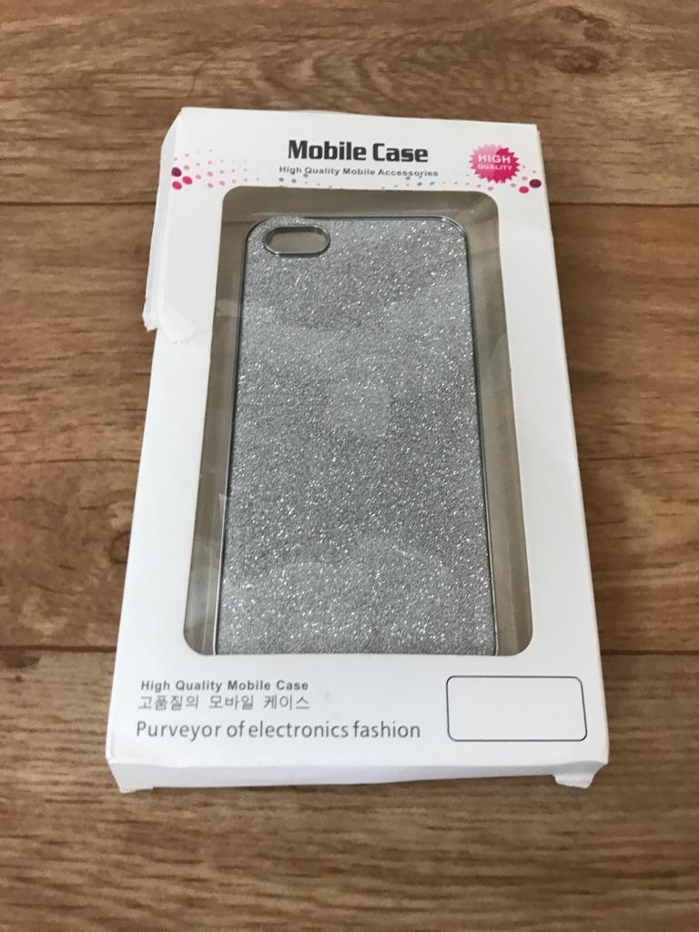 Iphone 5 Silver Glitter Case