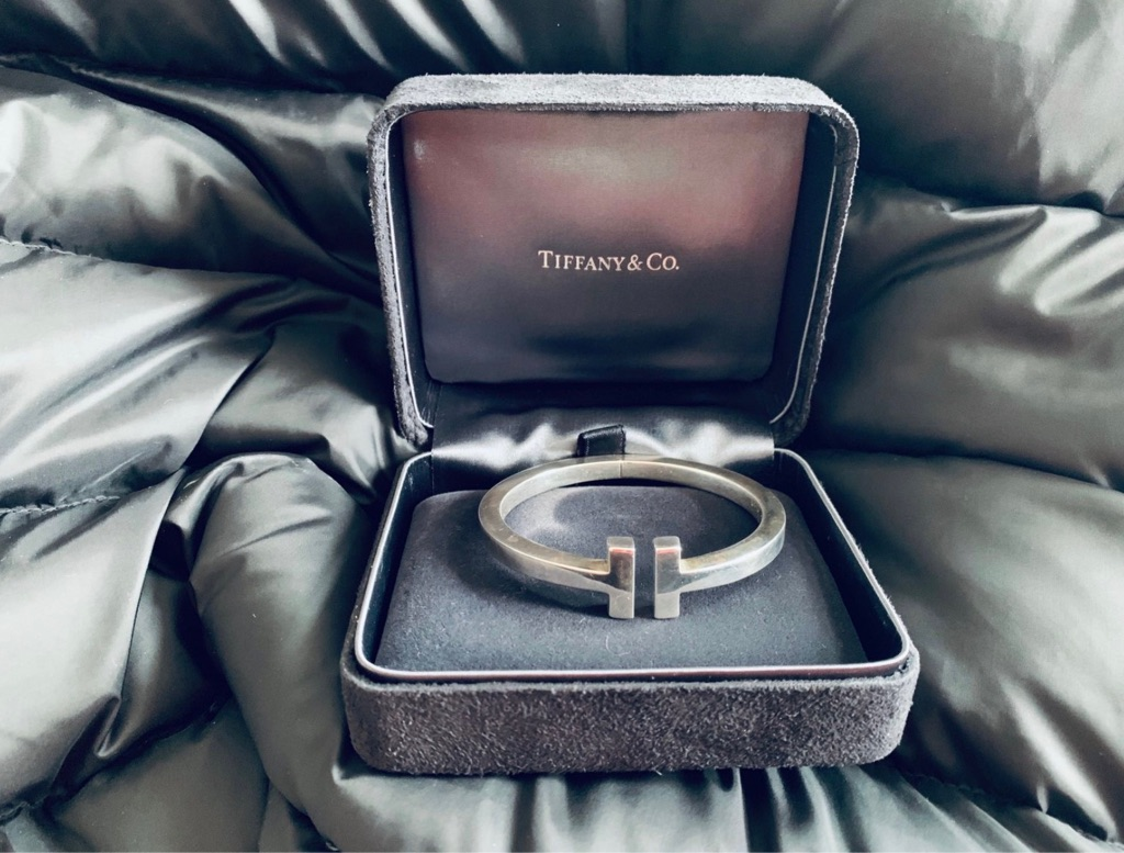 Tiffany&co double T design bracelet sterling silver