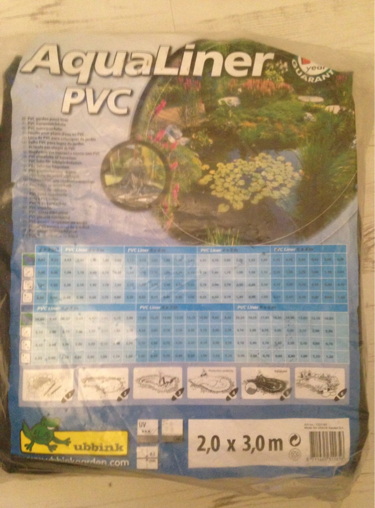 Brand new pond liner