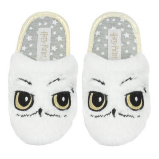 HARRY POTTER ~ HEDWIG OWL PLUSH SLIPPERS
