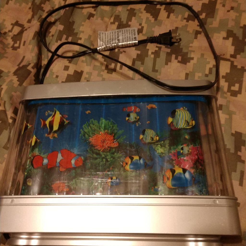 Rotating fish aquarium