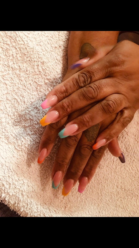 Acrylic nails extensions by qualified mobile nails technician