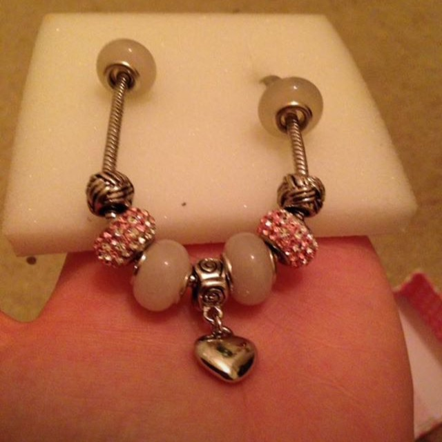 Brand New Pink Charm Bracelet