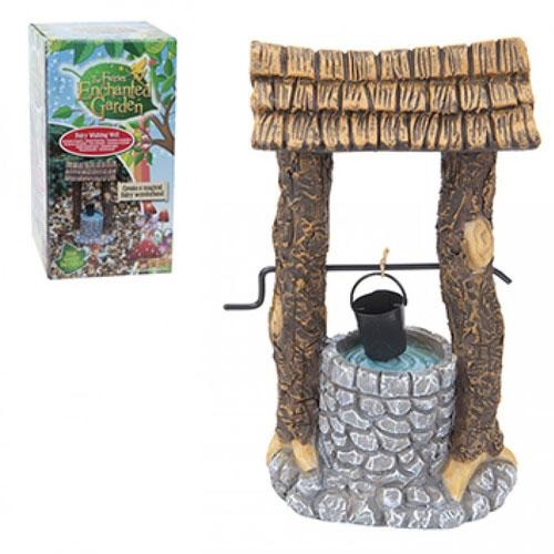 Secret fairy garden wishing well