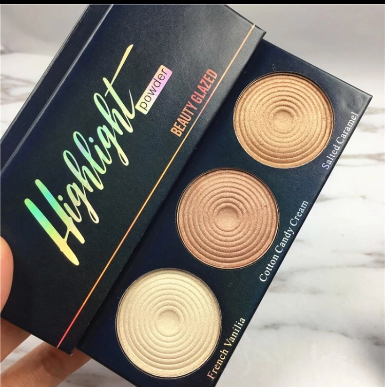 Beauty glazed highlighter palette