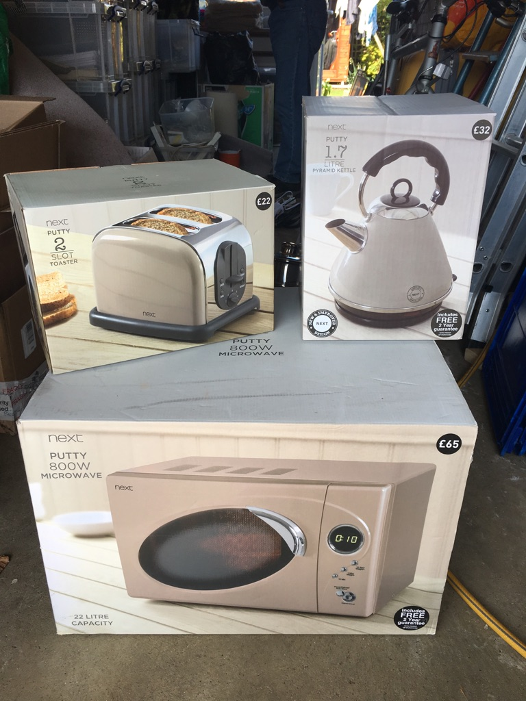 Next microwave, toaster and kettle