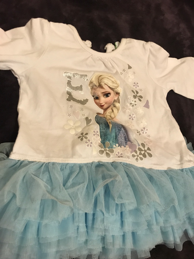 Elsa top with tutu 6-9 months