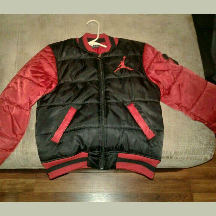 Red, black boys jordan jacket