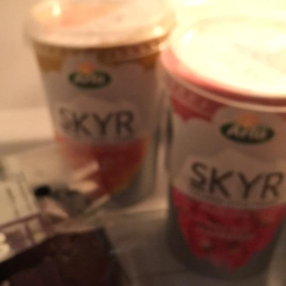 Yoghurt avocados kale almond milk