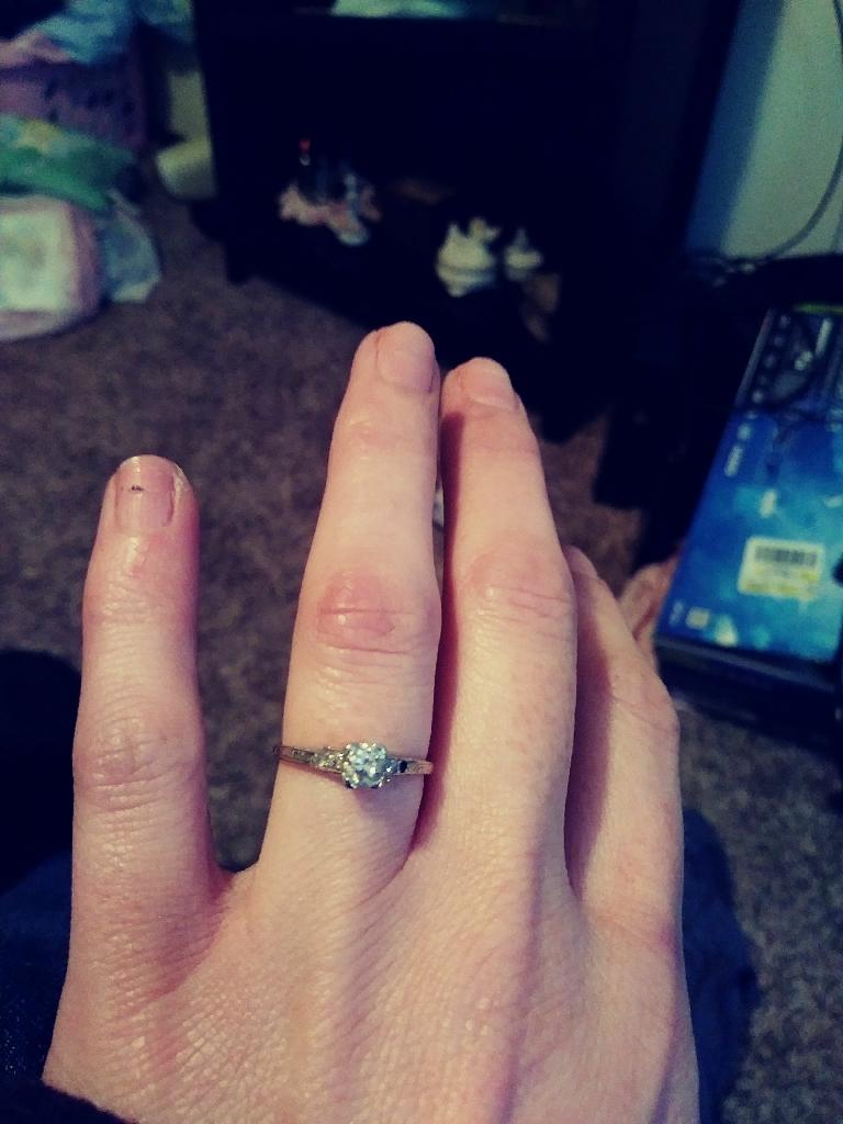 Vintage 1928 engagement ring