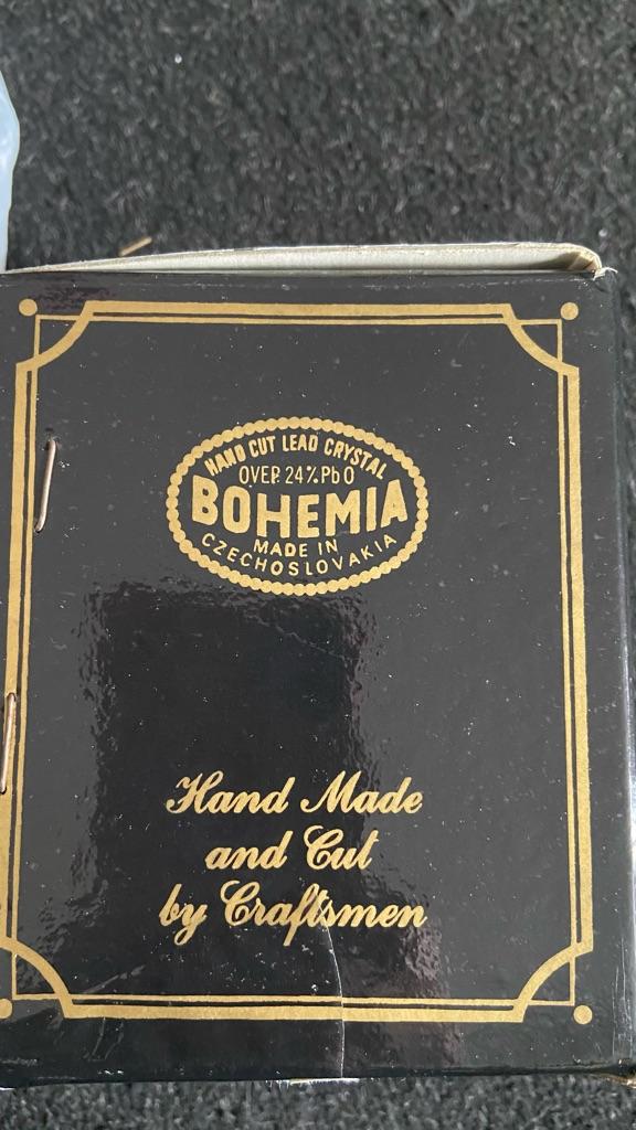 bohemia crystal 24 pbo beer glass