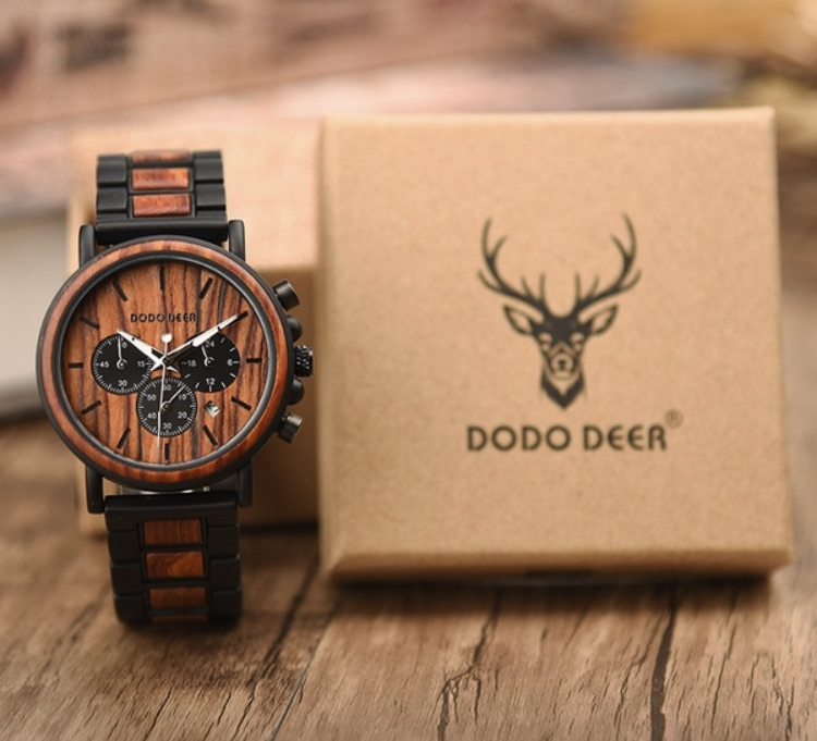 DODO DEER Fashion word and stain less steal casual watches