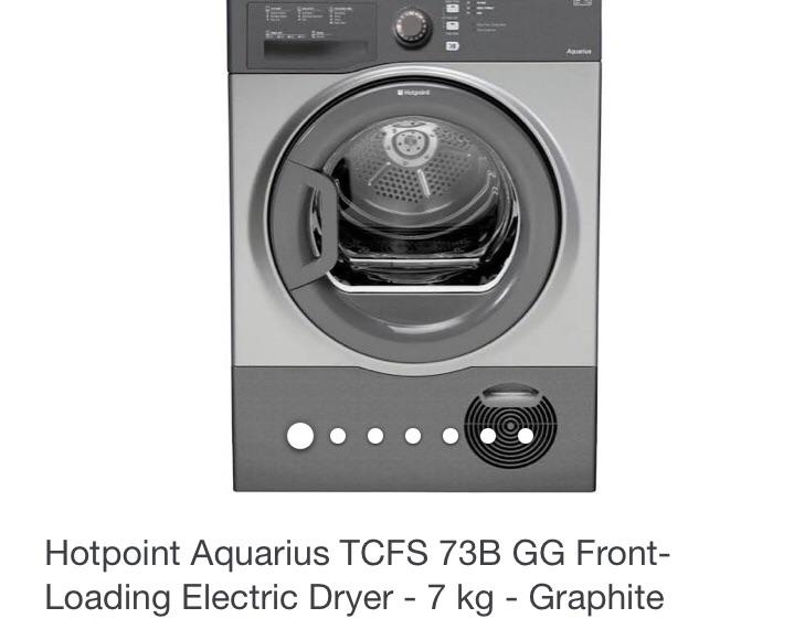 Hotpoint Aquarius Condenser Dryer -  TVFS 73B GG