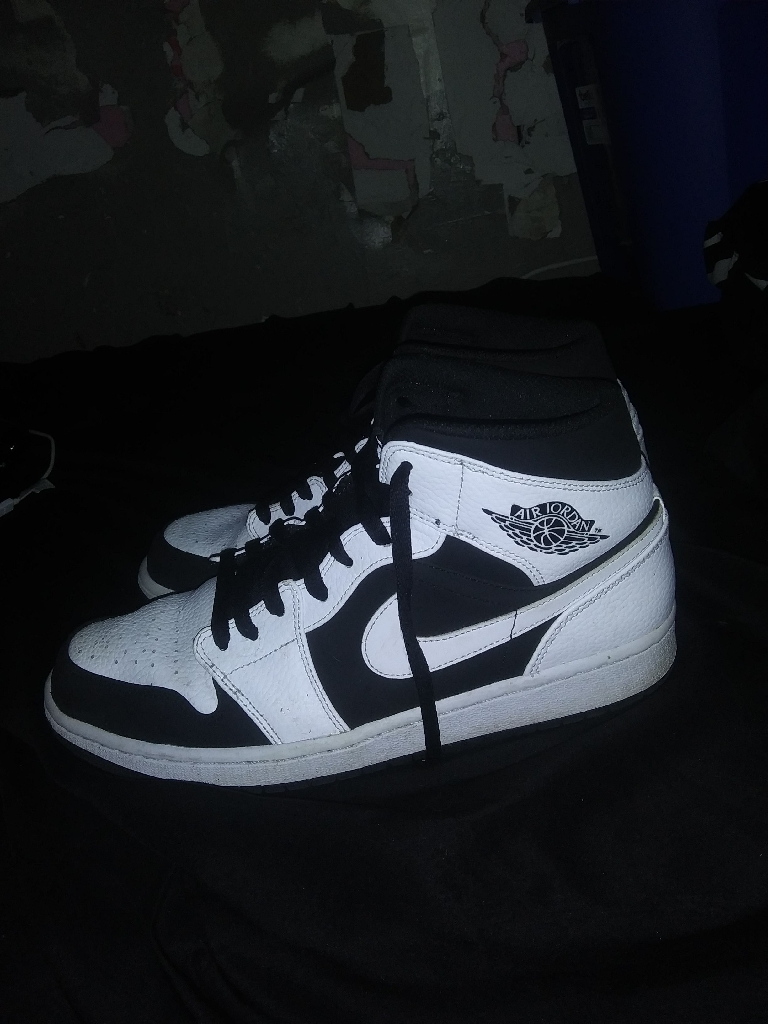 White and black air Jordan's