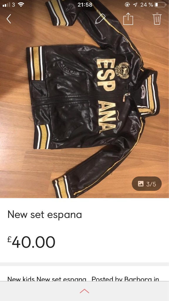 New espana size 6 years