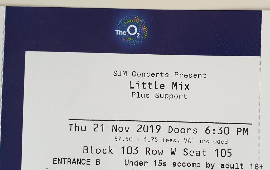 2 x Little Mix Tickets - Thursday 21st November O2 London