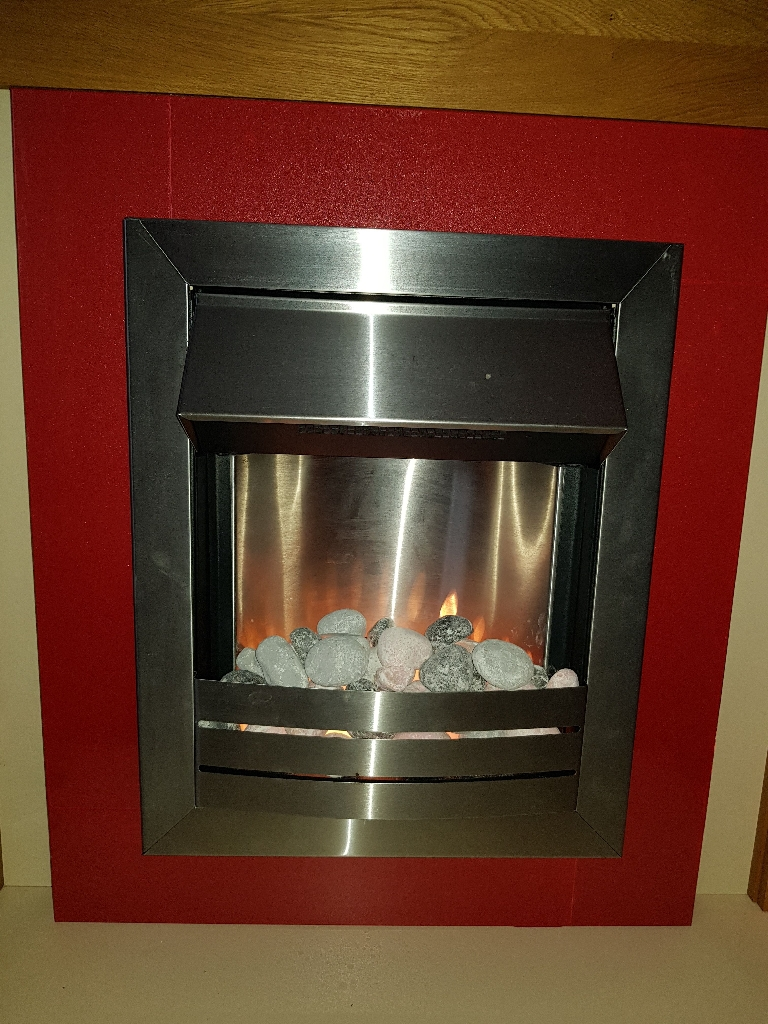 Electric fire with inset