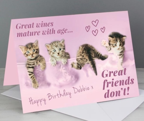 Personalised 'great friends' greeting card