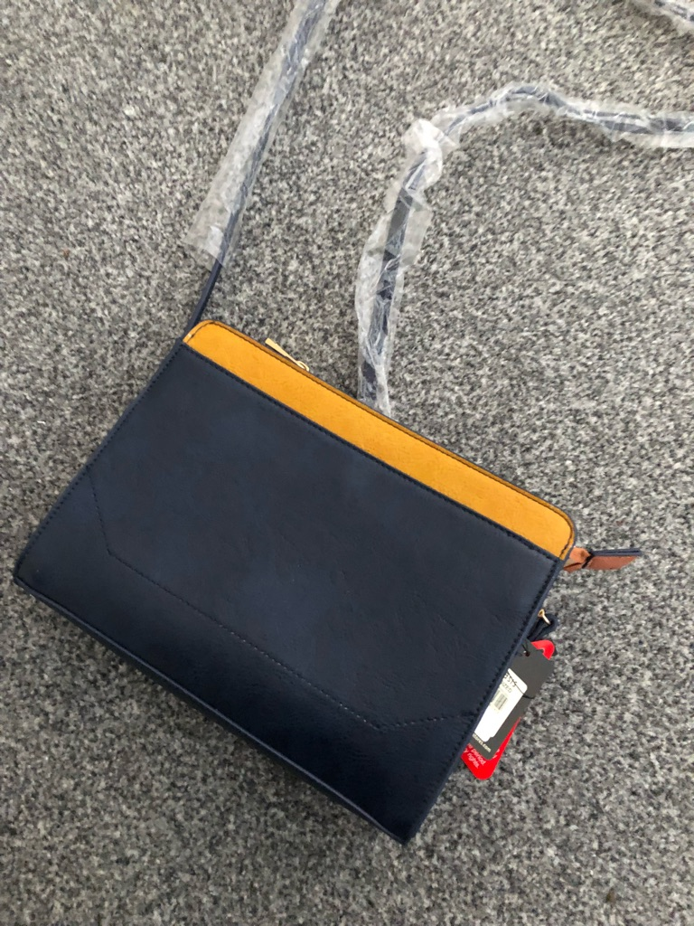Oasis navy and mustard bag