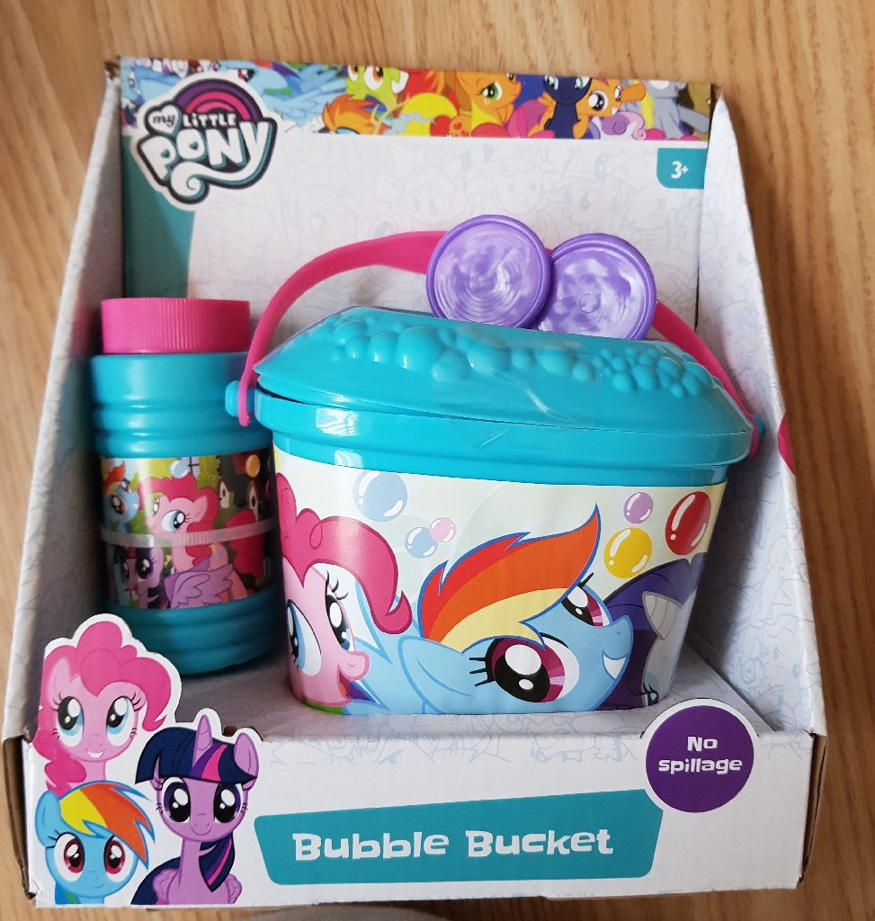 Brand new my little pony bubble buckets