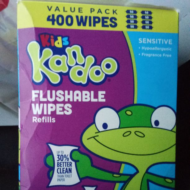 Kandoo flushable wipes