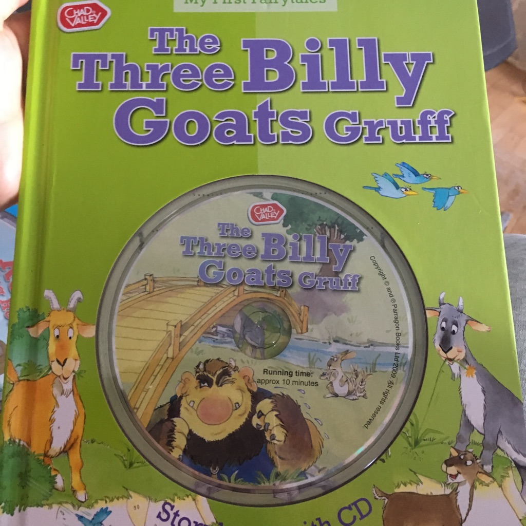 The three billy goats gruff book and cd