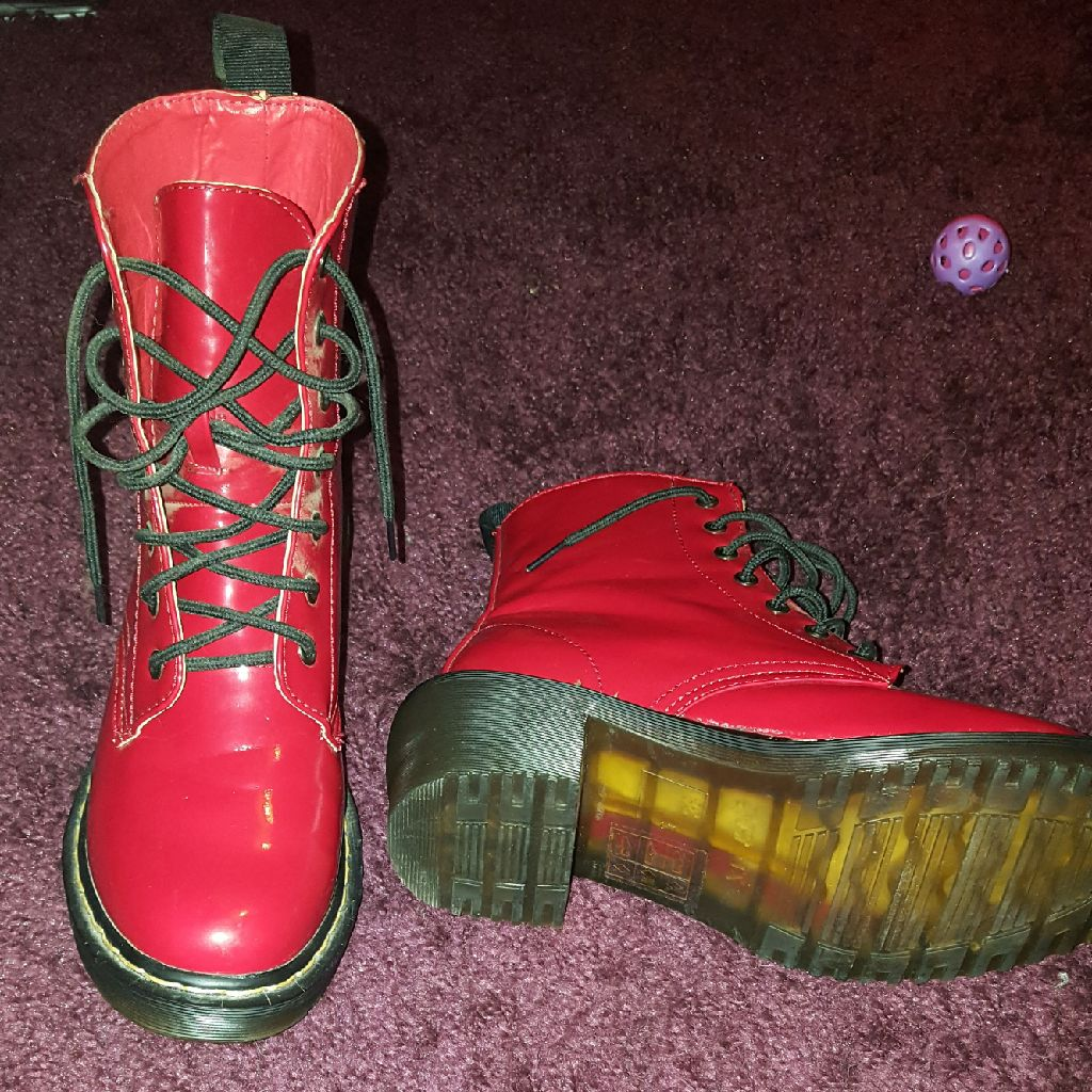Red PVC Boots