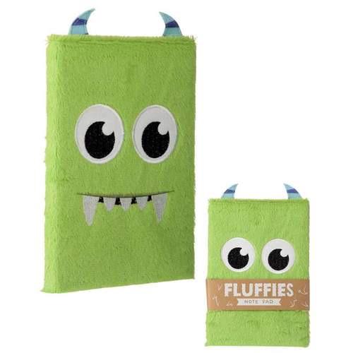 Fluffy plush notebook- monster design