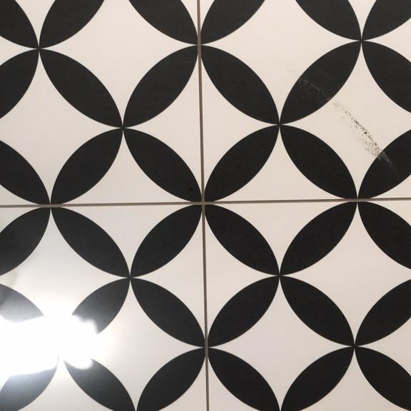 9 Porcelain floor tiles (45cm x 45cm)