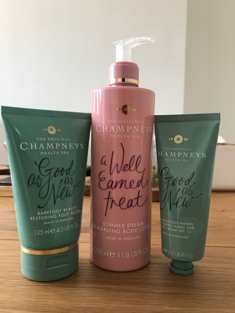 Champneys body lotion, foot butter & hand cream