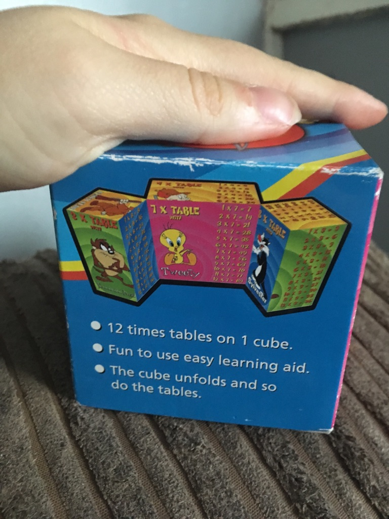 Looney tunes times table cube