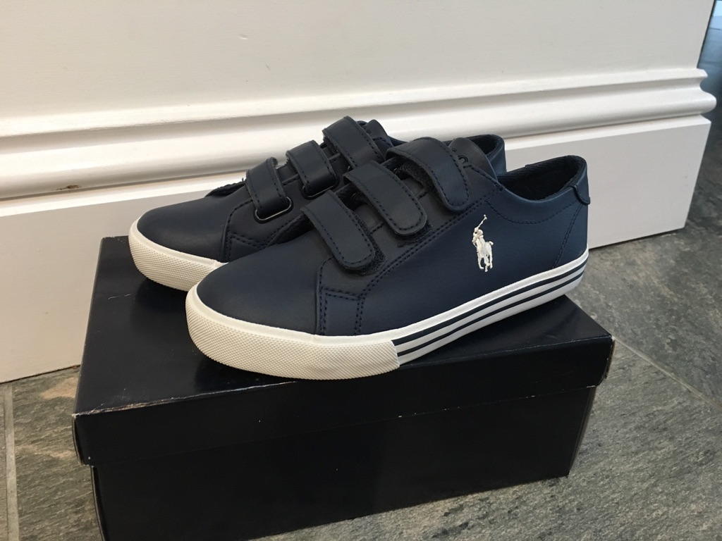 Size 2 navy blue RL shoes