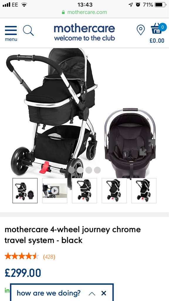 Mothercare journey travel system pram pushchair
