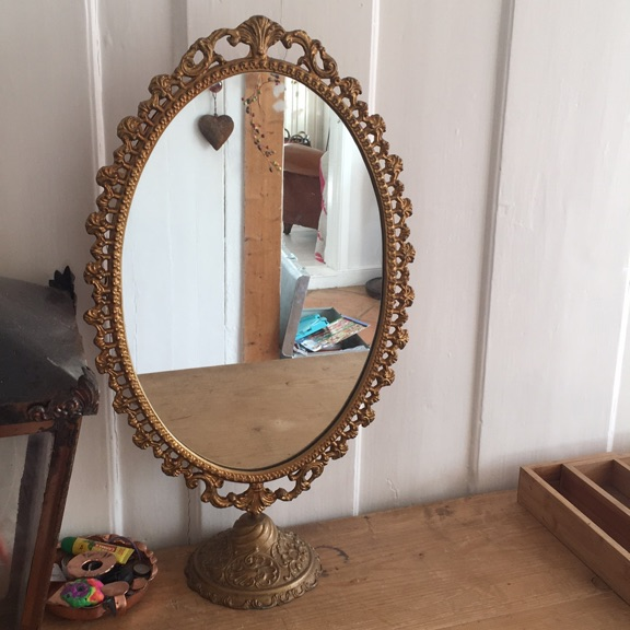 Gilt dressing table mirror