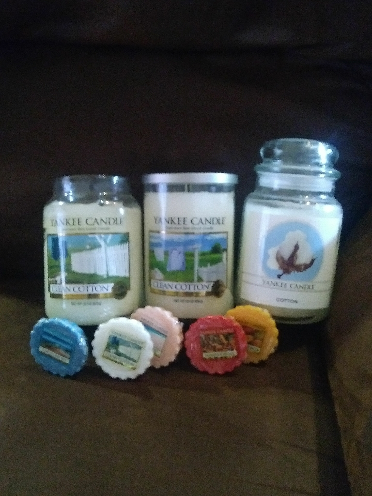 Yankee candles set of 3