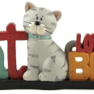 'Myl cat loves me best' Free Standing Ornament