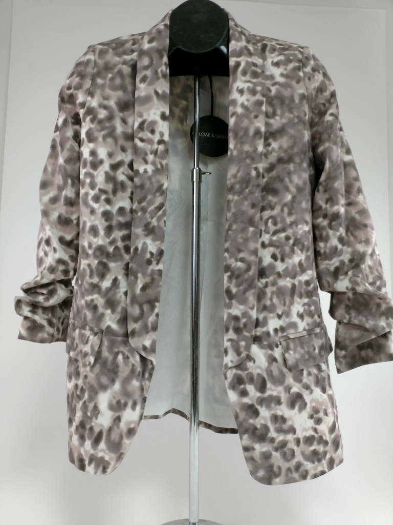 Harlowe & Graham animal print jacket