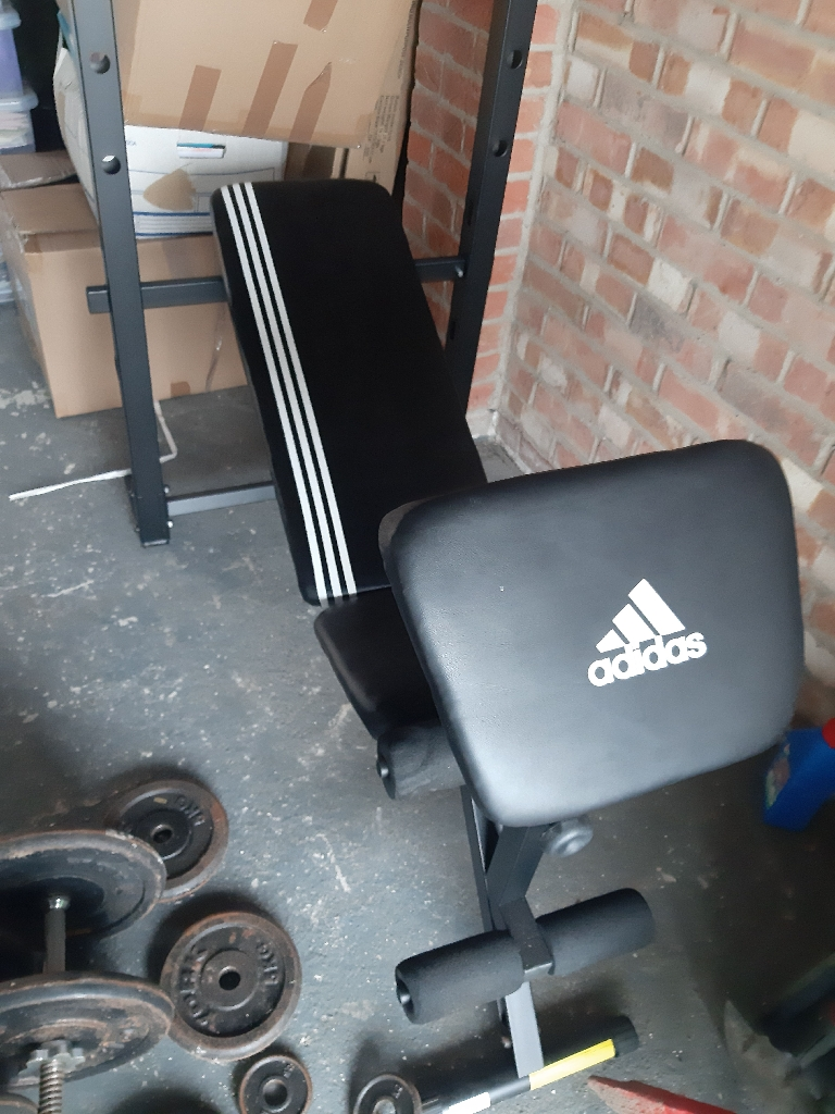 Adidas weights bench and weights