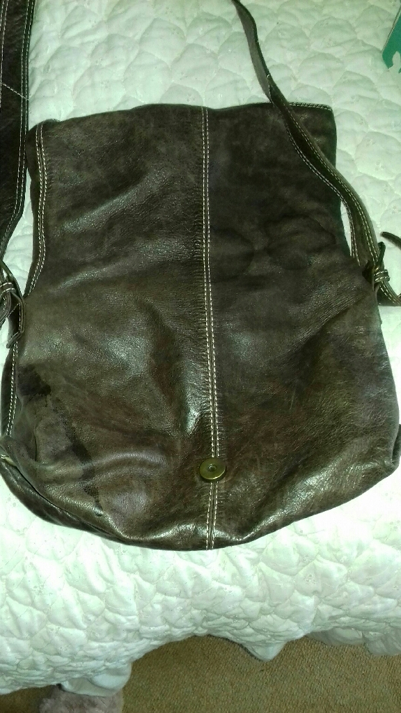 Genuine leather cross the body bag by white stuff
