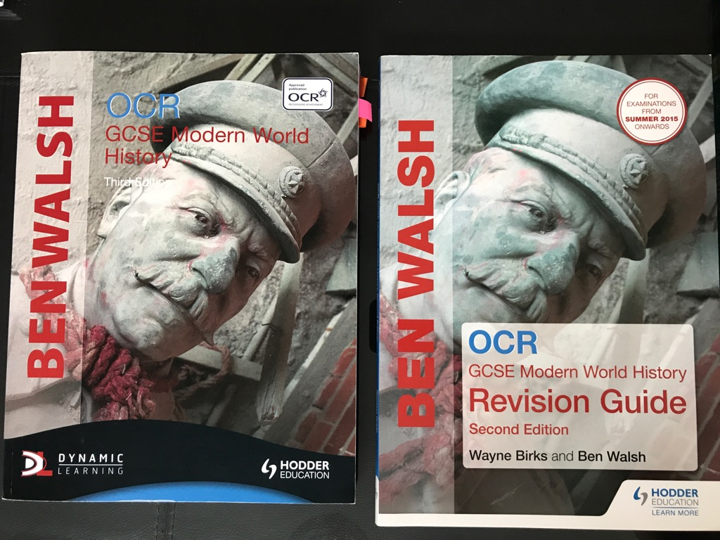 GCSE history text book and revision guide