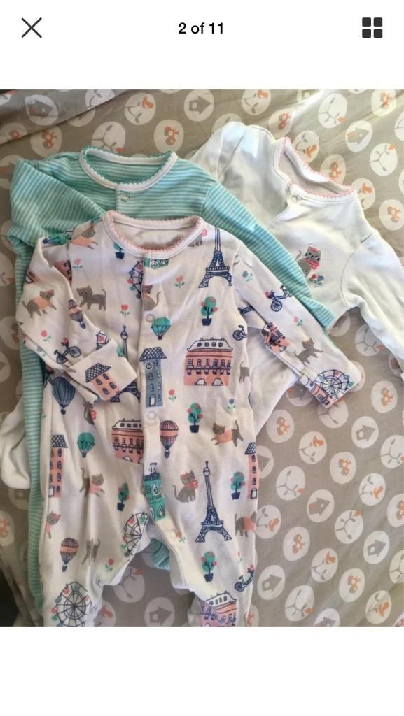 c24699c9cd46 Bundle of baby girl's clothes 0-3 months Next Gap Little Bird etc   Village