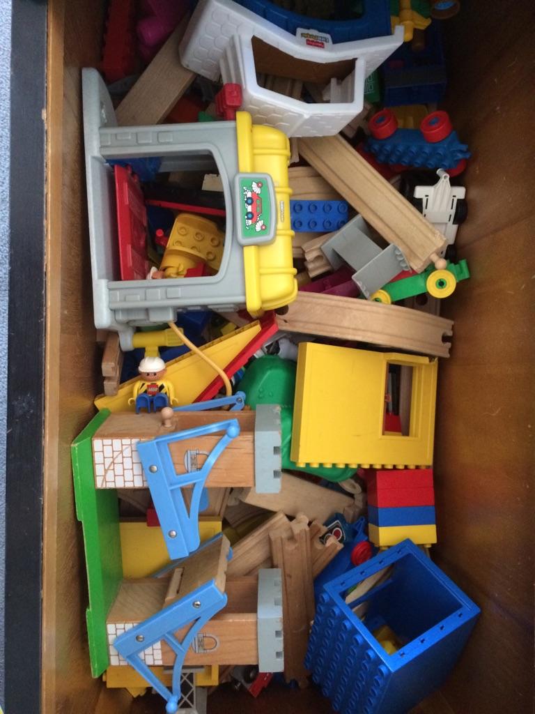 Loads of train track,brio,trains, blocks