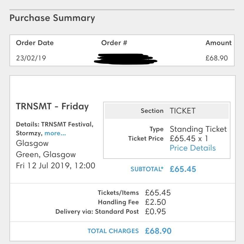 Friday TRNSMT ticket