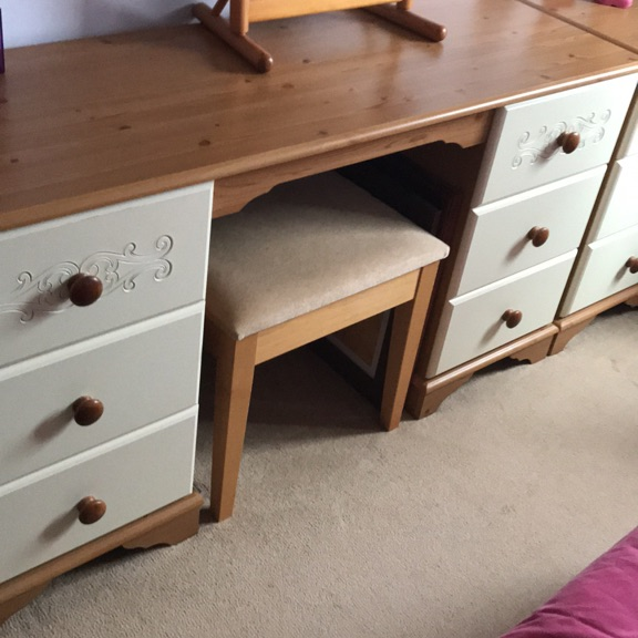 Dressing Table, bedside cabinet