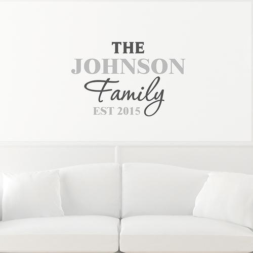 Personalised the family wall art