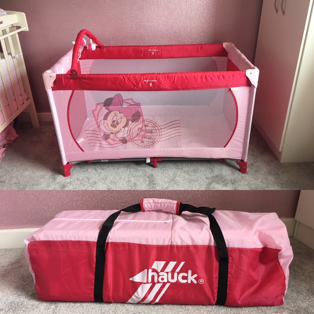 Hauck Minnie Mouse travel cot / playpen