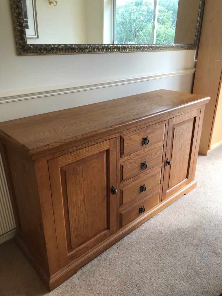 Solid oak sideboard *** NEEDS TO GO***