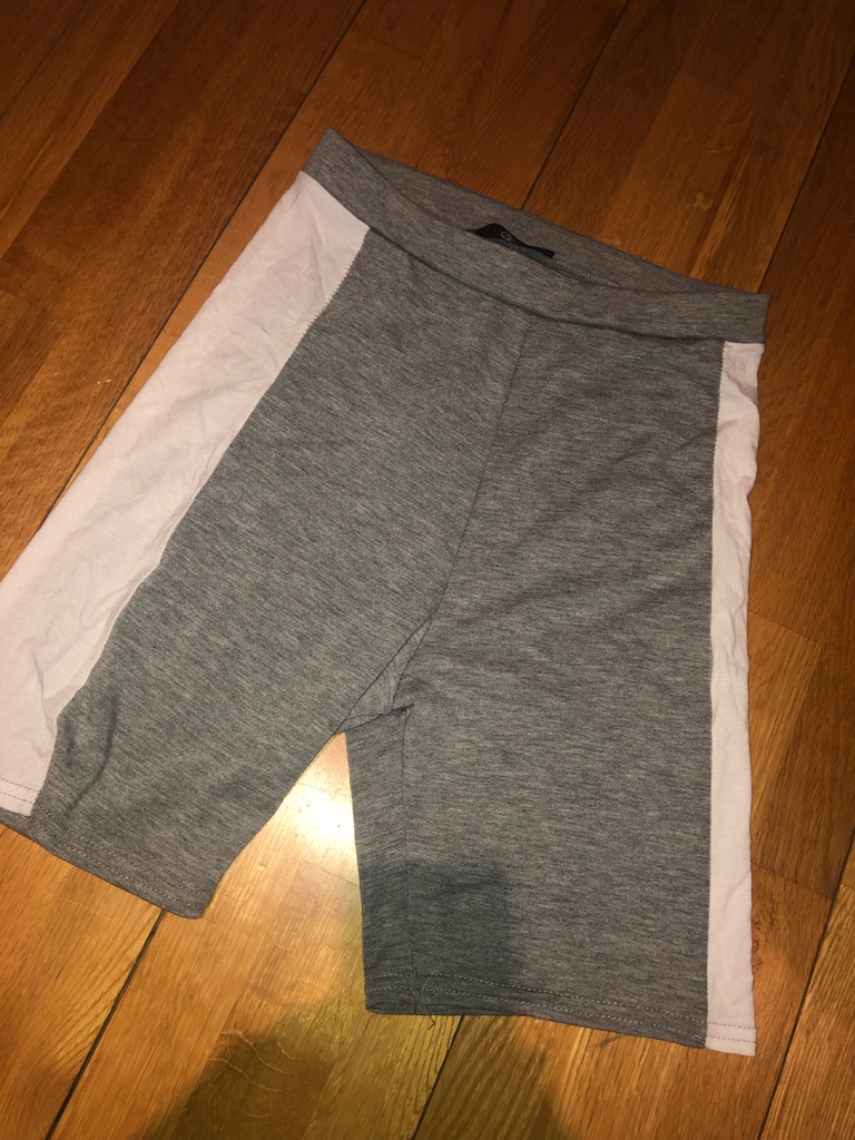 Misguided grey and white cycle shorts