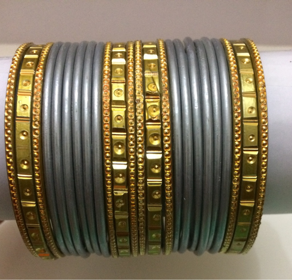 Grey and Gold Bracelet Set