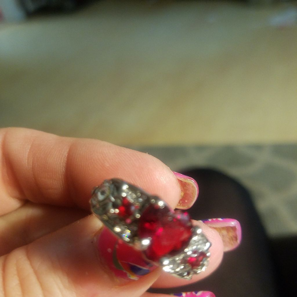 Heart ring size7